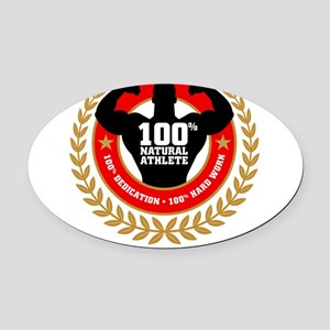 Natural Athlete Oval Car Magnet
