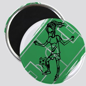 Personalized Soccer girl MOM design Magnet