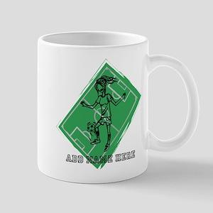 Personalized Soccer girl MOM design Mug