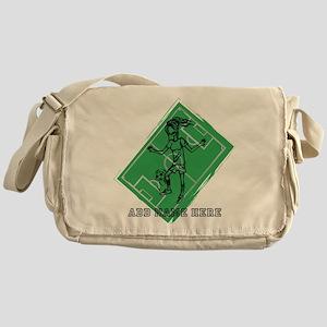 Personalized Soccer girl MOM design Messenger Bag