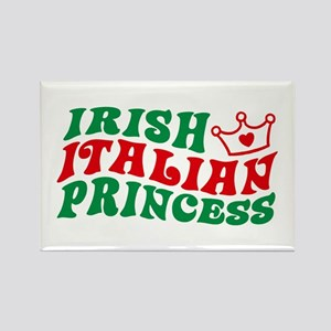 Irish Italian Princess Rectangle Magnet