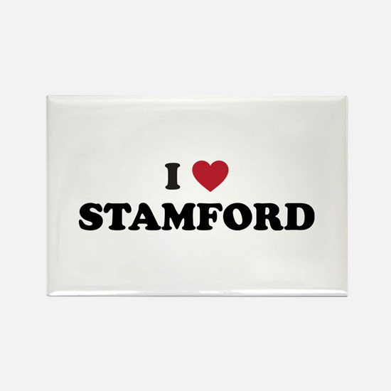 I Love Stamford Connecticut Rectangle Magnet