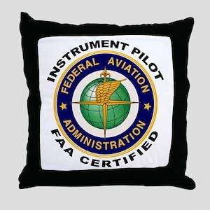 Instrument Pilot Throw Pillow