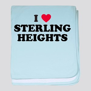 I Love Sterling Heights Michigan baby blanket