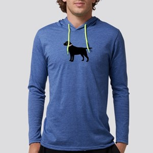 Black Lab Retriever Preppy Mens Hooded Shirt