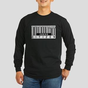 Junius Citizen Barcode, Long Sleeve Dark T-Shirt