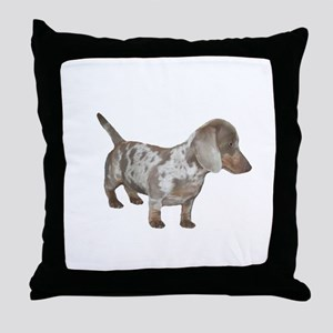 Speckled Dachshund Dog Throw Pillow