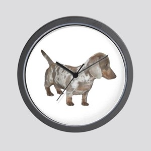 Speckled Dachshund Dog Wall Clock