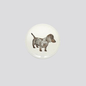 Speckled Dachshund Dog Mini Button