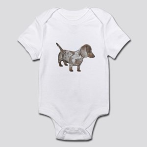 Speckled Dachshund Dog Infant Bodysuit