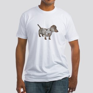 Speckled Dachshund Dog Fitted T-Shirt