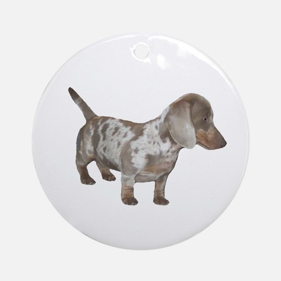 Speckled Dachshund Dog Ornament (Round)