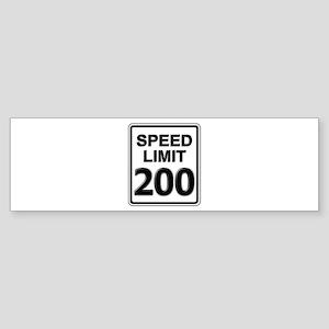 Speed Limit Sign (200 mph) Bumper Sticker