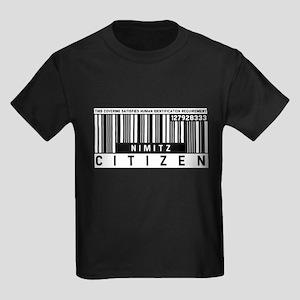 Nimitz Citizen Barcode, Kids Dark T-Shirt