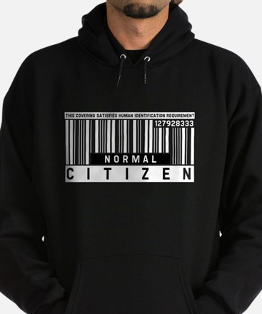 Normal Citizen Barcode, Hoodie (dark)