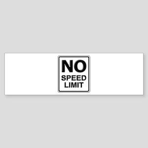No Speed Limit Sign Bumper Sticker
