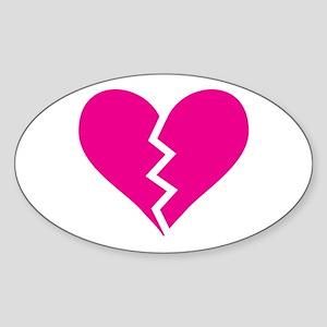 it hearts! Oval Sticker
