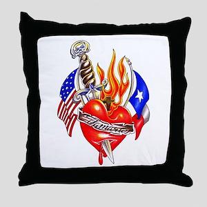 Texas Arm Tattoo Throw Pillow