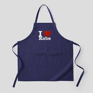 I Love Kobe Apron (dark)
