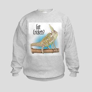 Chameleon Got Crickets? Kids Sweatshirt
