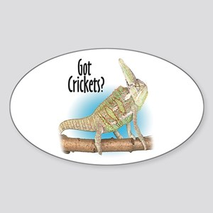 Chameleon Got Crickets? Oval Sticker