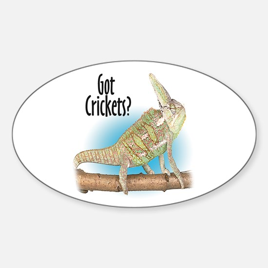 Chameleon Got Crickets? Oval Decal