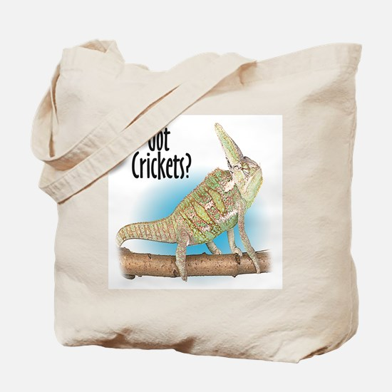 Chameleon Got Crickets? Tote Bag