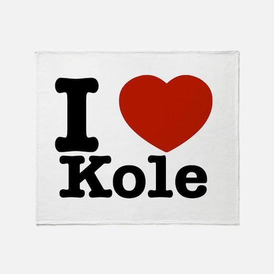 I Love Kole Throw Blanket