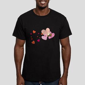 Bee Love Men's Fitted T-Shirt (dark)