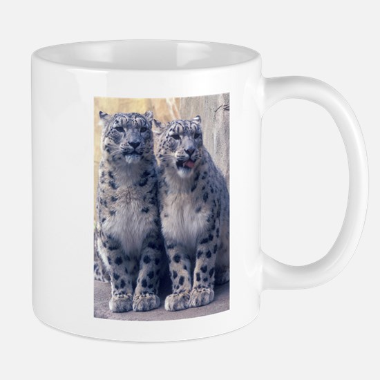 Twin Snow Leopard Cubs Mug