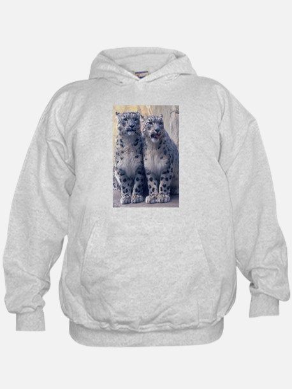 Twin Snow Leopard Cubs Hoodie