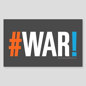 #WAR! Sticker (Rectangle)