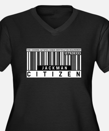 Jackman Citizen Barcode, Women's Plus Size V-Neck