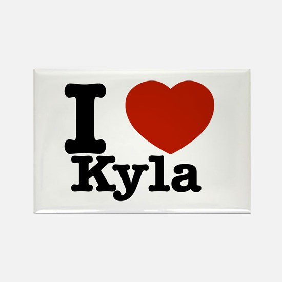 I Love Kyla Rectangle Magnet