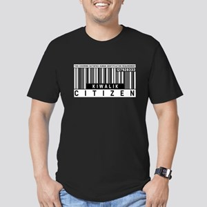 Kiwalik Citizen Barcode, Men's Fitted T-Shirt (dar