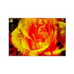 Rectangle Rose Magnet