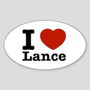 I Love Lance Sticker (Oval)