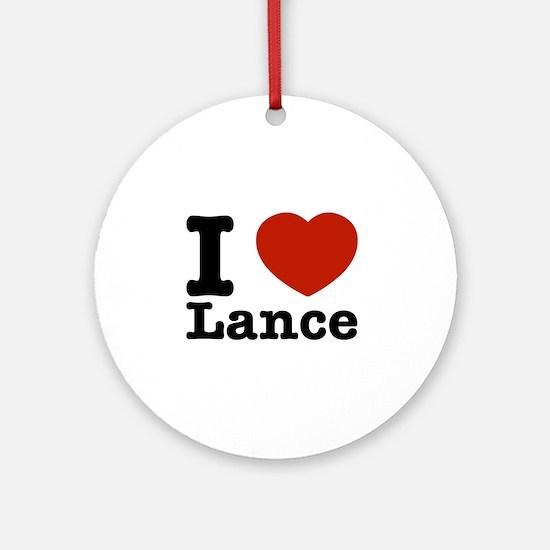 I Love Lance Ornament (Round)