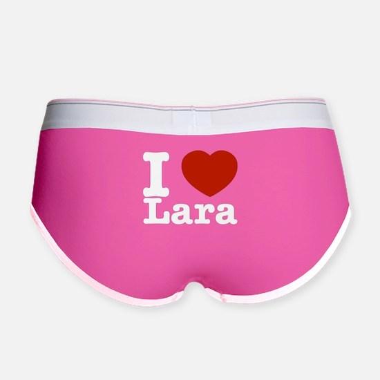 I Love Lara Women's Boy Brief