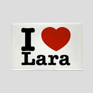 I Love Lara Rectangle Magnet