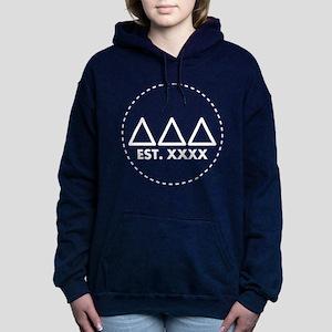 Delta Delta Delta Letter Women's Hooded Sweatshirt