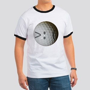 Angry Text golf ball. Ringer T