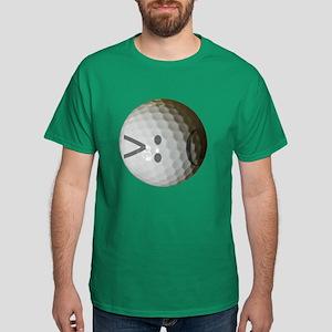 Angry Text golf ball. Dark T-Shirt