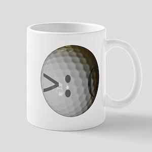 Angry Text golf ball. Mug