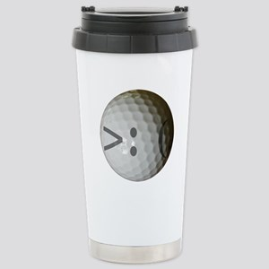 Angry Text golf ball. Stainless Steel Travel Mug