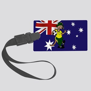 Australia Soccer Kangaroo Large Luggage Tag