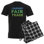 I Support Fair Trade Men's Dark Pajamas