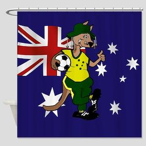 Australia Soccer Kangaroo Shower Curtain