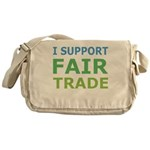 I Support Fair Trade Messenger Bag