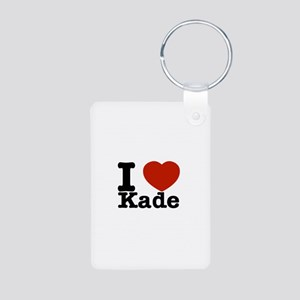 I Love Kade Aluminum Photo Keychain